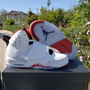 New Jordan Son of BG Gym Red White Black Strap